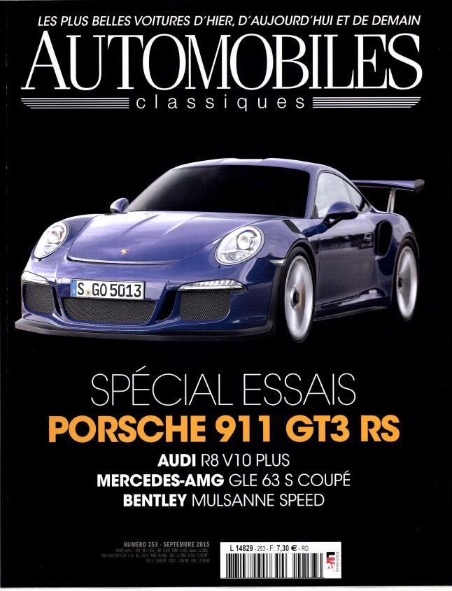 Carlos Santos in Automobiles Classiques magazine. September 2015.