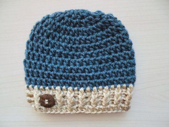 Chapeau au crochet bébé garçon chapeau d'hiver bébé bleu chapeau nouveau-né nouveau-né crochet chapeau bébé nouveau-né garçon chapeau d'hiver tenue garçon hôpital bonnet