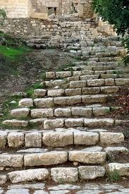 Steps to Gethsemane, Jerusalem  The grass dies and the flowers fall, but the word of our God will live forever.    Isaiah 40:8