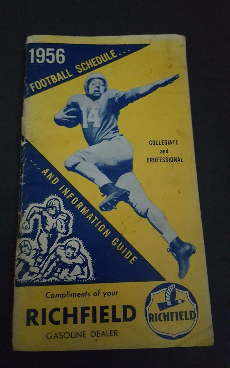 a rare 1956 Richfield gasoline pro and college football schedule. this is in outstanding condition for a 1956. please see pictures | eBay!