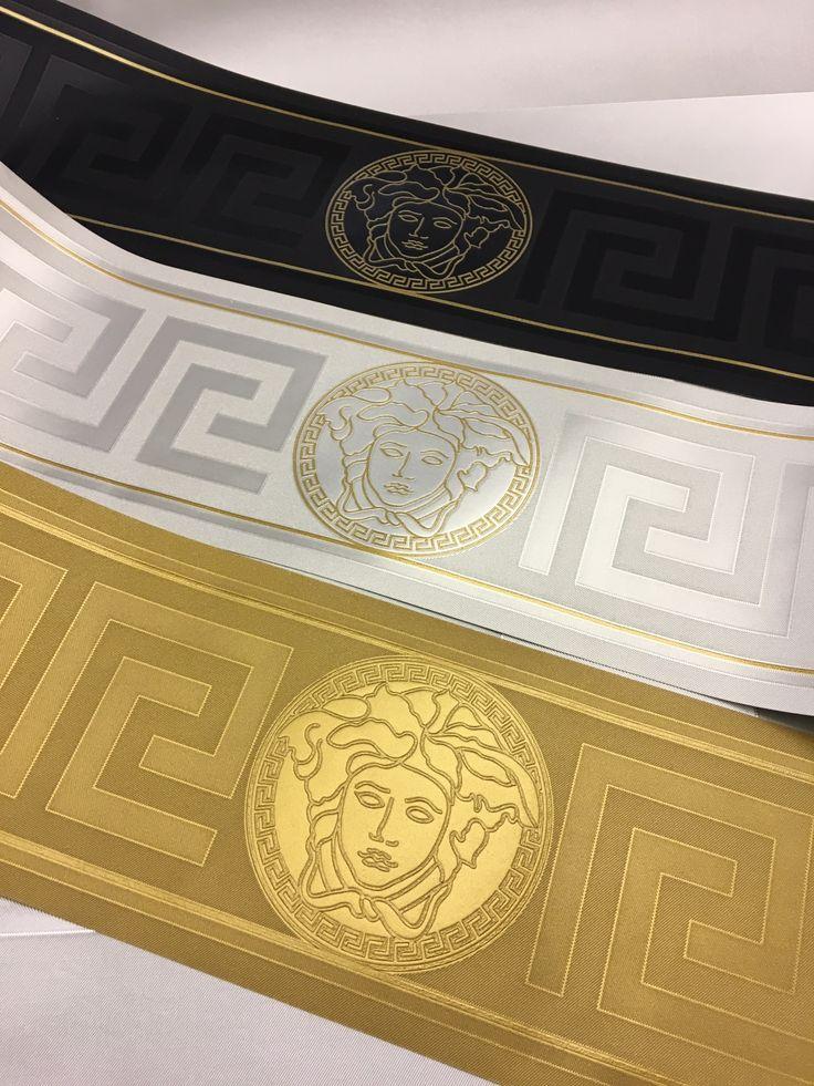 Versace Home Greek Key Silver / Gold Luxury Wallpaper