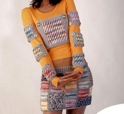 Схема вязания спицами: