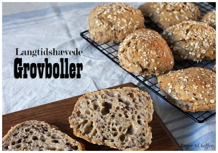 Langtidshævede grovboller, recipe in Danish from the Kager til Kaffen blog