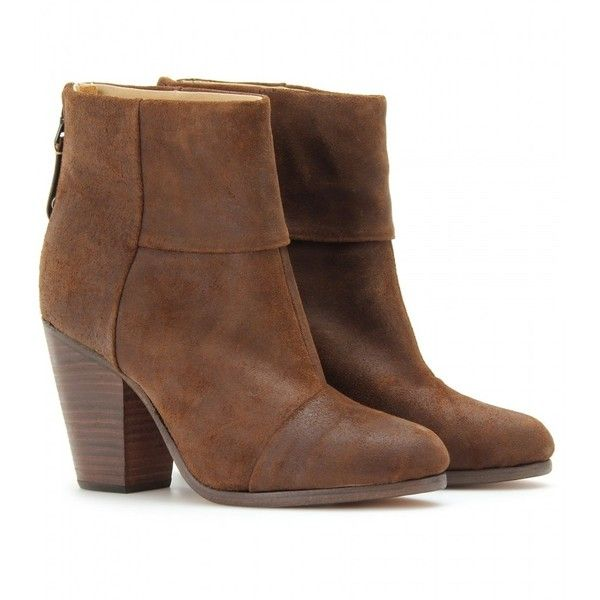 Rag & Bone Classic Newbury Suede Ankle Boots ($649) ❤ liked on Polyvore  featuring