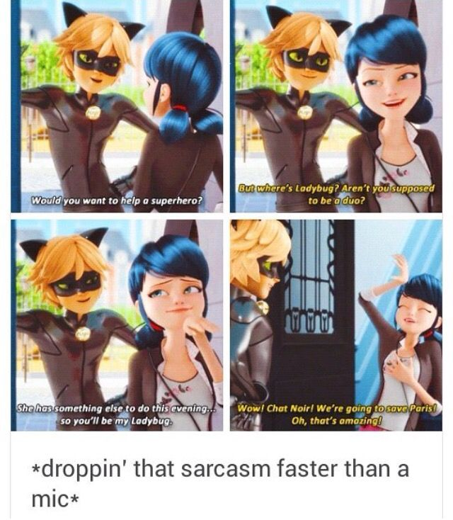 I never thought Mari could be very very sarcastic || Marinette and Chat Noir • Miraculous Ladybug
