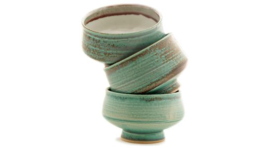 Handmade matcha bowls by Autumn Aslakson.