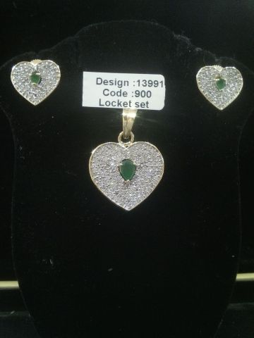 AMERICAN DIAMOND LOCKET SET #AmericanDiamonds #Kurtis