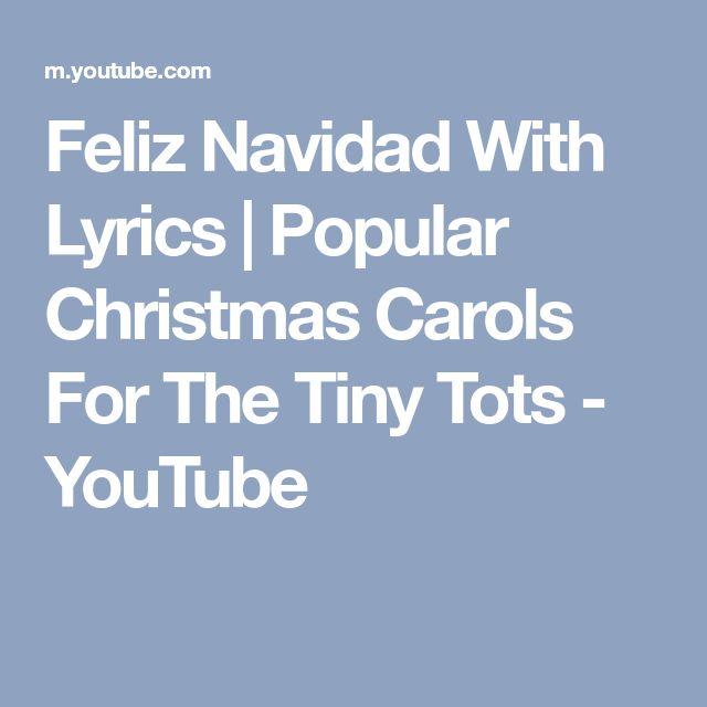 Feliz Navidad With Lyrics   Popular Christmas Carols For The Tiny Tots - YouTube
