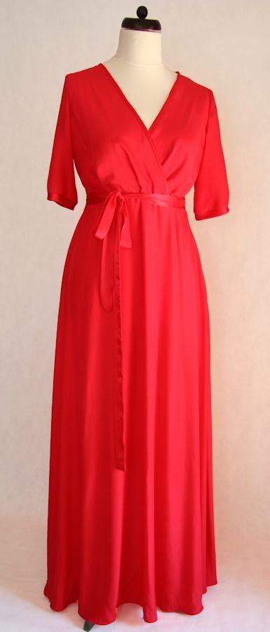 Czerwona sukienka jedwabna