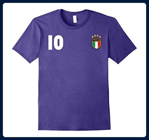 Mens Italy Soccer T-Shirt - Italia Retro Football Jersey 2017 Large Purple - Retro shirts (*Amazon Partner-Link)