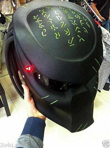 Predator Mask Motorcycle Laser Helmets Handmade 1 1 Unique ...
