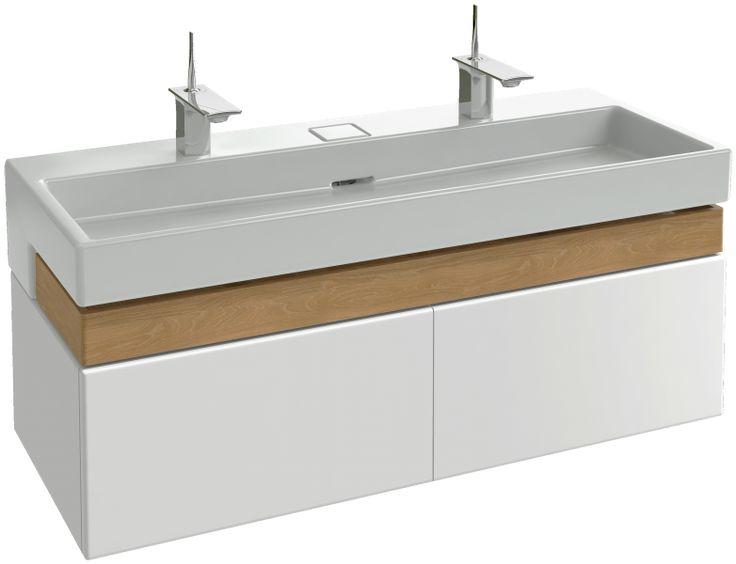 meuble sous plan vasque 120 cm par jacob delafon france - 100 Cm Plan Vasque