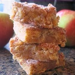Apple Squares - Apples, nuts and cinnamon make these bars delicious. They hardly last a day at my house!