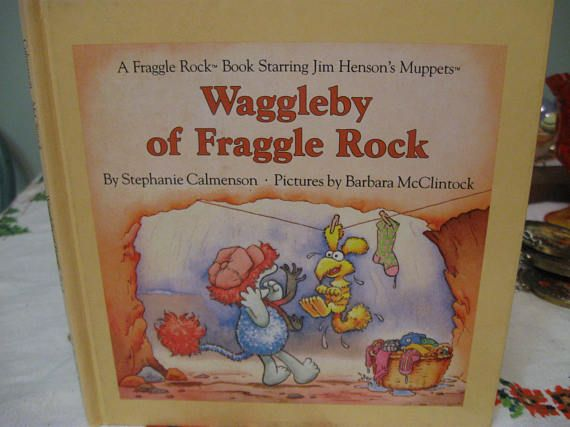 fraggle  rock book hard cover  1985 first edition