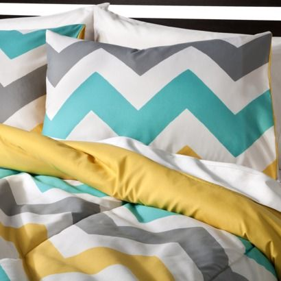 Room Essentials® Chevron Bedding Set - White  Putting this on our registee, we need a new bedding set!