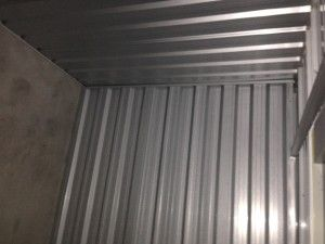 Always look up and make sure you have a covered roof in your self storage unit