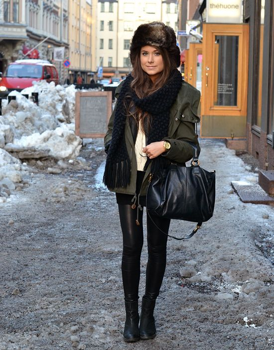 Cozy and adorable! Love the hat