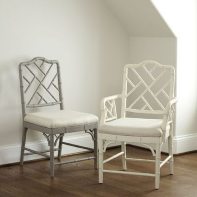 for kitchen table in the cream? maybe the armless to ensure you can push them in all the way to not block walkway.   Set of 2 Dayna Side Chairs | Ballard Designs