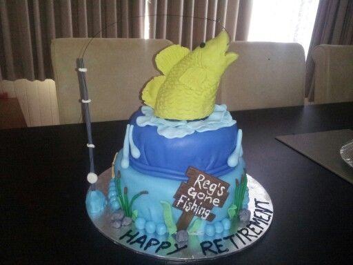 Retirement fishing cake