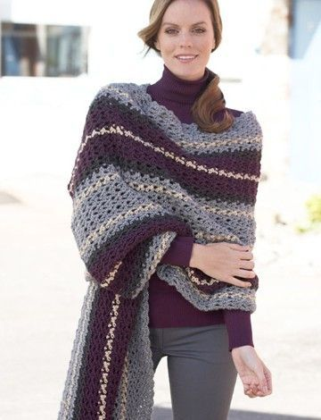 Afternoon Wrap - Free Crochet Pattern | Yarnspirations