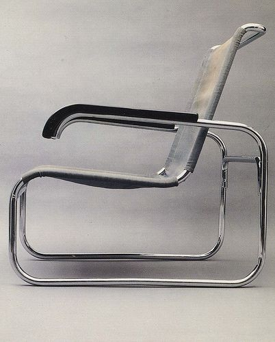 """Marcel Breur's chair (1928) reflects the universal appeal movement through its lack of 'decoration' and timeless appeal. The chair strictly follows its function and does not include elements which are not necessary for its purpose."""
