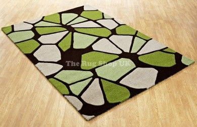 Aspire Stone Green Abstract Rug