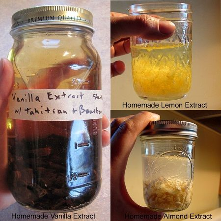 How To Make Homemade Extracts – Vanilla, Lemon and Almond, very useful! Those extracts are super expensive! misc. food tips