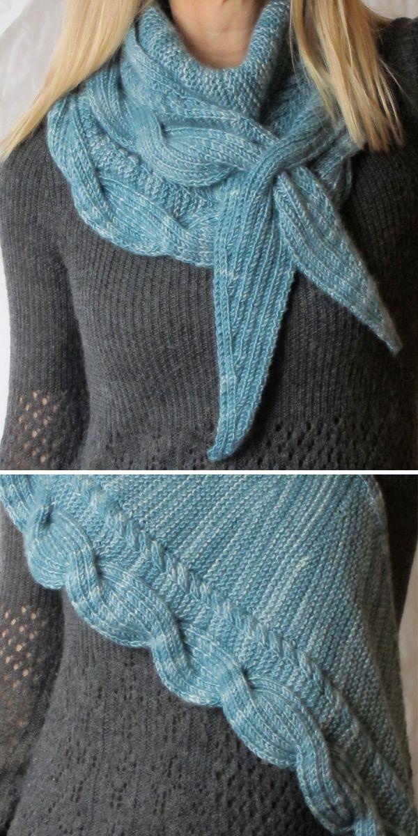 Knitting Pattern for Reversible Betangled Shawlette