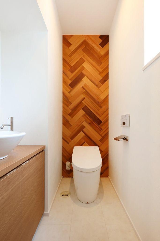ヘリンボーンデザインを愉しむトイレ