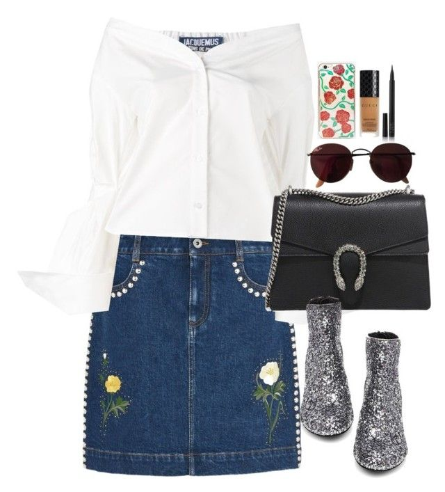 """""""Untitled #2078"""" by roxy-camarena on Polyvore featuring STELLA McCARTNEY, Jacquemus, Gucci, Steve Madden, NARS Cosmetics, Skinnydip and Ray-Ban"""