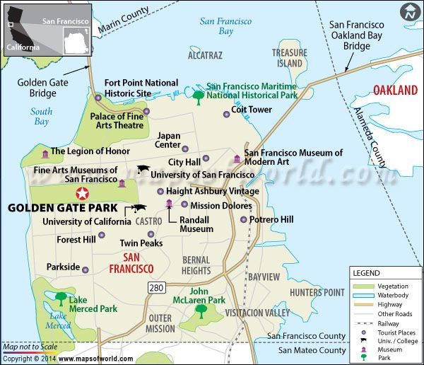 Where is Golden Gate Park Golden Gate Park Map San Francisco