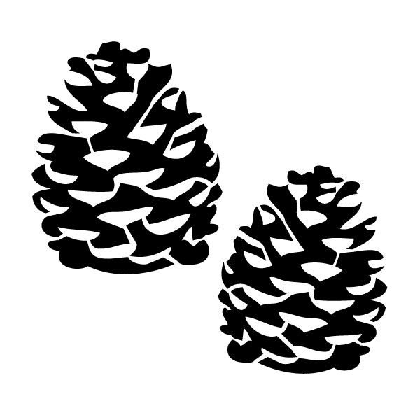 Pinecones silhouette cutter file - FREEBIE