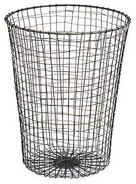 Wire Waste Paper Bin - traditional - Waste Baskets - Brook Farm General Store