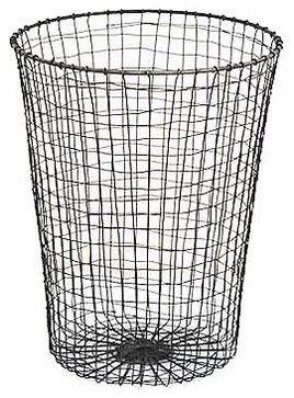 Wire Waste Paper Bin - traditional - Waste Baskets - Brook Farm General Store