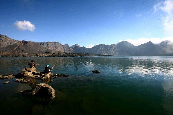 SEGARA ANAK Lake closer..  you can fishing,shower in hot spring water   ...etc