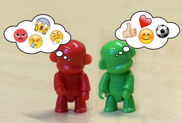 Røde tanker er negative og vonde tanker. Som for eksempel