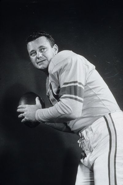 Norm Van Brocklin (QB) Rams - NFL quarterback who directed his teams to two NFL titles (Los Angeles Rams in 1951 and Philadelphia Eagles in 1960); led league in passing three times.
