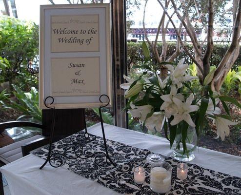 wedding reception outdoor railing decorations May 05