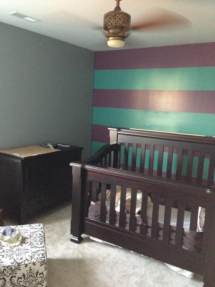 Purple Teal Gray Nursery U003c3
