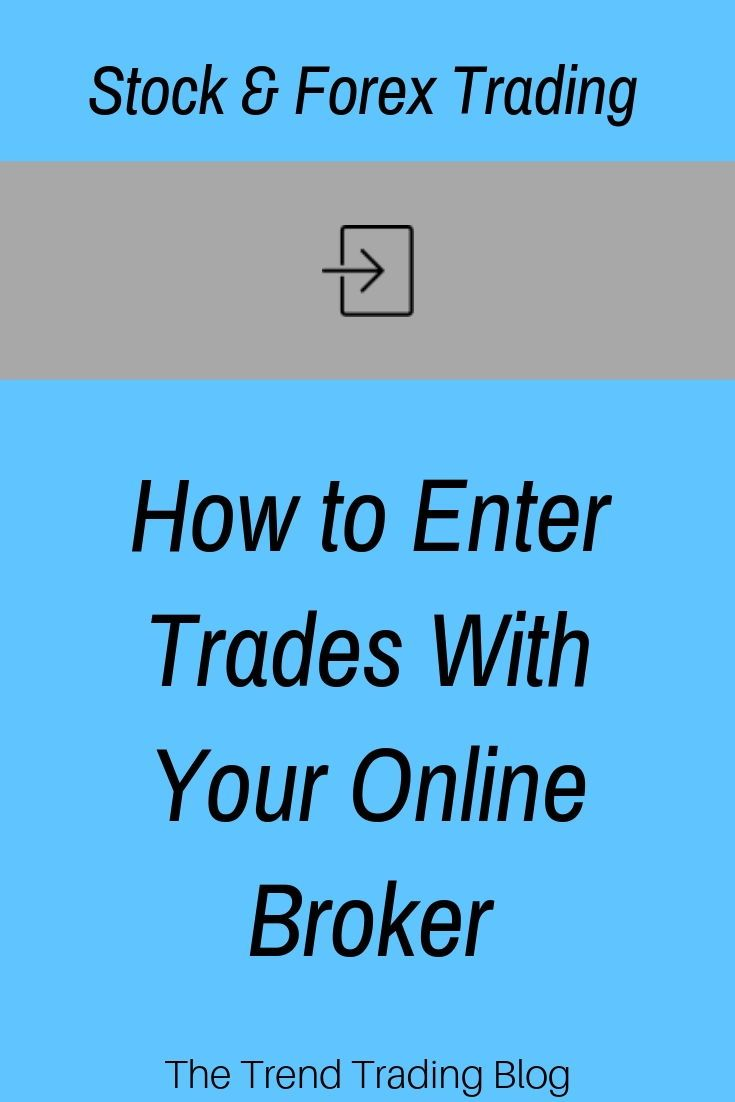 In This Article Discover How To Enter Trades With Your Online Broker