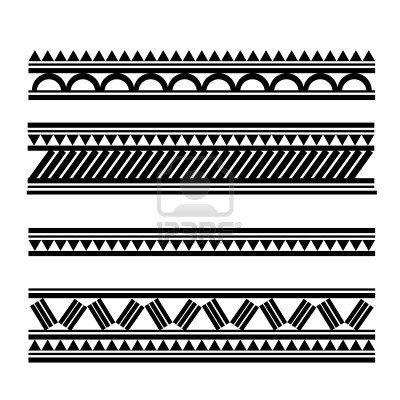 Maori   Polynesian Style tattoo  bracelet Stock Photo