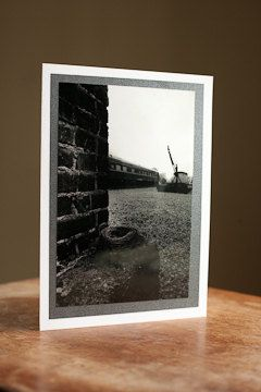 Photography Greeting Card Blank 5 x 7 nest in train yard $5.00