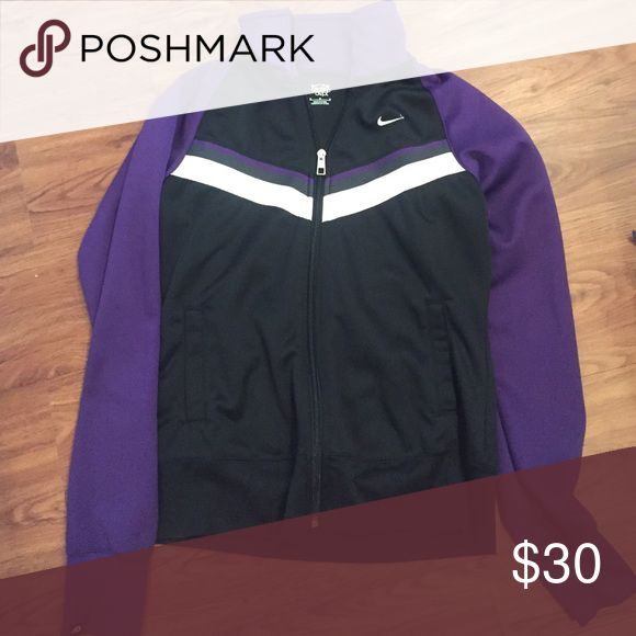 Nike Running Jacket Size M Nike Running Jacket (purple, black and white) Nike Jackets & Coats Utility Jackets