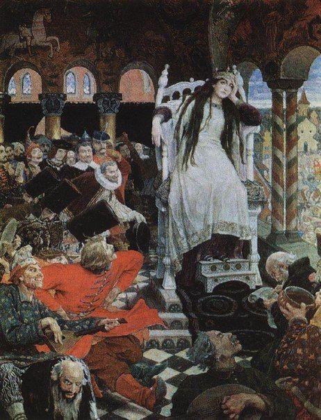 «Царевна-Несмеяна» (1916-1926) Холст, масло. 262 x 190 см. Дом-музей В.М.Васнецова, Москва, Россия.