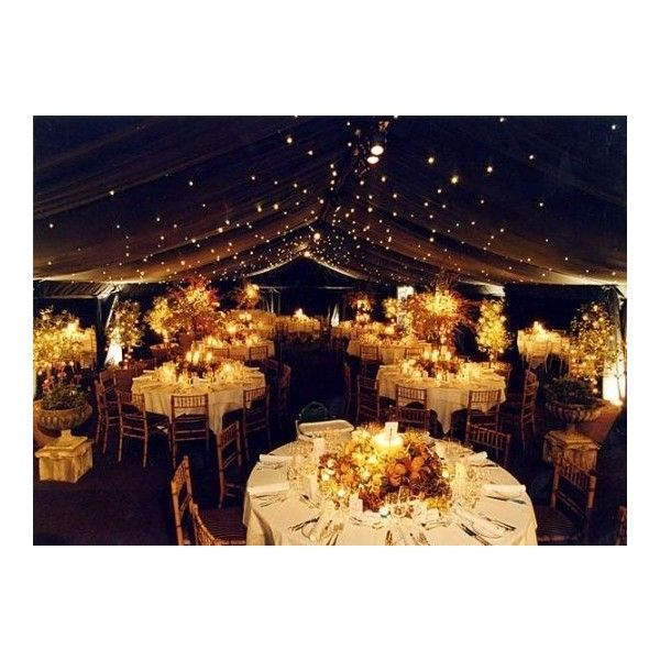 Outdoor Evening Wedding Decorations Ideas Wedding Idea Wedcow.com ❤ liked on Polyvore featuring wedding
