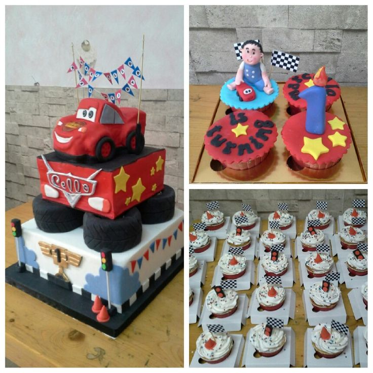 The cars theme cake for Marcello 1st birthday