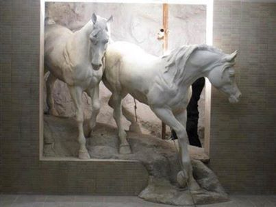 Oh MY!! It's like the Horse Sculptures are coming alive and walking out of a Relief Painting.....Awesome!!  :)