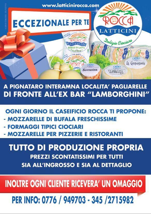 """Locandina """"Eccezionale per re"""" - Latticini Rocca"""
