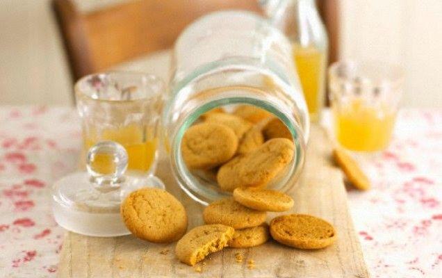 Μπισκότα πορτοκαλιού με τυρί κρέμα