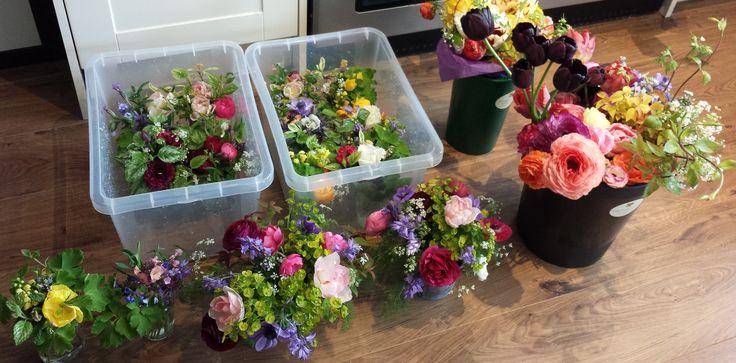 Spring DIY buckets and arrangements